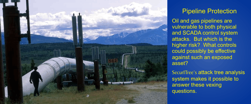 Pipeline Protection: Oil and gas pipelines are vulnerable to both phsical and